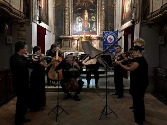 Basilica di Santa Maria della Misericordia, Sant'Elpidio a Mare (FM) 03/08/2018. Furiosi Affetti nel loro primo concerto in trasferta, alla guida dell'orchestra lo straordinario Lorenzo Gugole, Primo Violino